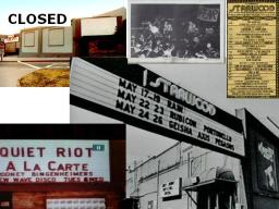 This music and concert club catering to local and int'l bands alike. It was open from 1972 to 1981.