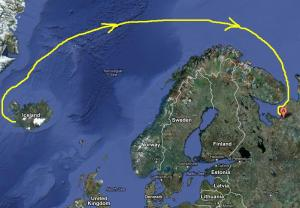 Summer Route from Iceland