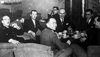 Amery taking tea with Dutch Nazis.