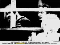 Diles and Nash sit in the holding pen at court