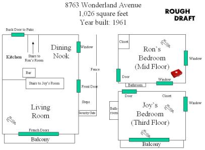 8763 Wonderland Ave. Ron's room needs work! LOL
