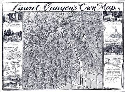 Laurel Canyon map from 100 years ago.