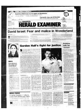 L.A. Herald-Examiner. July 3, 1981.
