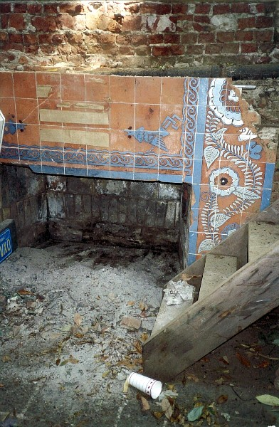 "What's left of ""Mick's fireplace"" in 2001ish."