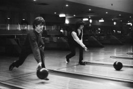 The Stones go bowling.