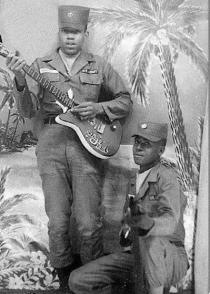 Jimi Hendrix in the Army.