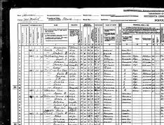 1940 US Census. Ron's father, Arlin.