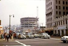 Capitol Records building under construction. Mid 50s.