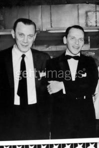"""John Gott's boss, Neil Dellacroce and Sinatra. Dellacroce preferred to keep a low profile and was said to have a menacing stare. NYPD detective Ralph Salerno said that the only mobsters whose eyes frightened him were Dellacroce and Carmine Galante. """"You looked at Dellacroce's eyes and you could see how frightening they were. The frigid glare of a killer."""""""
