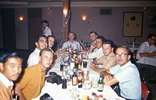 GIs in Ubon, Thailand go out to eat in 1967. Is Ronnie in the photo?