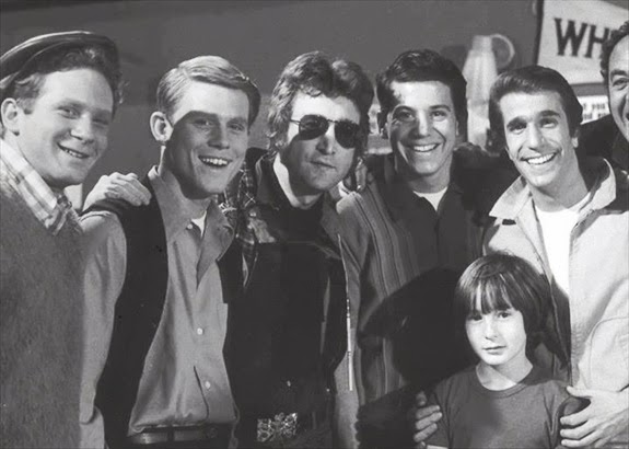 John and Julian chilling with the Fonz and Happy Days.