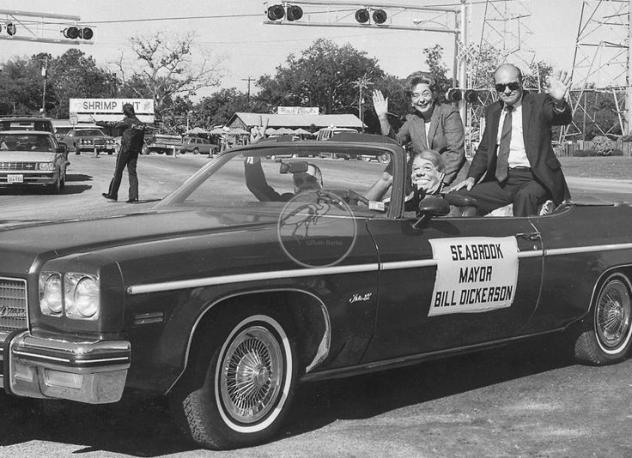 1970s - The old mayor of my hometown. I love the masks. Classic Delta 88 convertible.