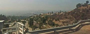 View of L.A. from the top of Wonderland Ave.