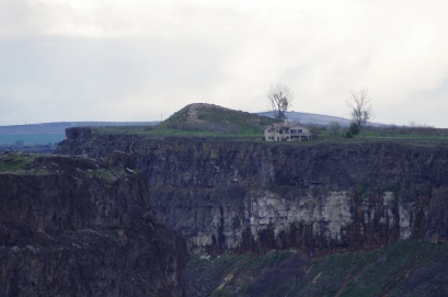 Evel Knievel's Snake River Jump launch site, present day photo.