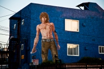 Mural of Jim in Venice, CA.