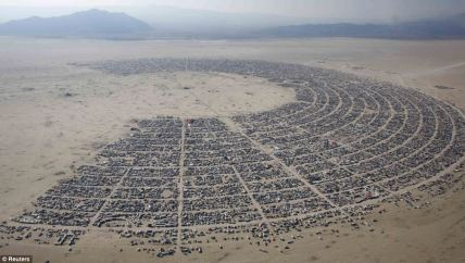 Burning Man Festival. It's so organized!
