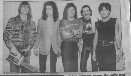 The fake Deep Purple. Original singer Rod Evans on the far right. They did a few L.A. gigs and were hit with a cease and desist order by the real Deep Purple.