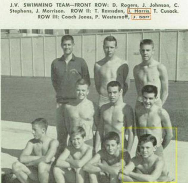1958 Alameda High School. JV Swim Team.