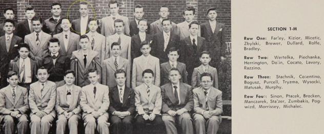 Ray. 1953 Freshman photo.