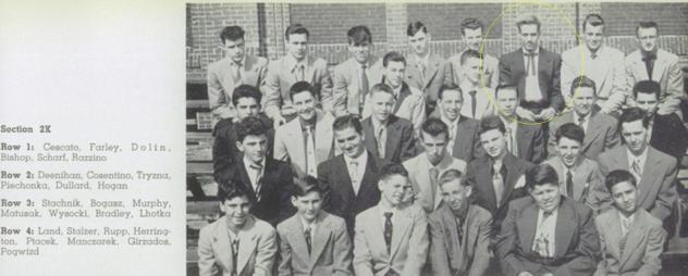 Ray. 1954 Sophomore photo.