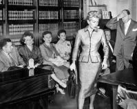 Lana Turner (wow!) in court for the murder of Stompanato, 1958.