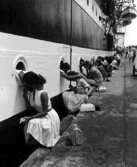Saying goodbye, 1963.