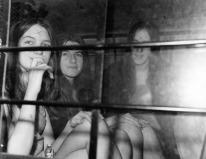Manson girls en route, 1970.