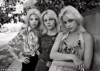 The Currie sisters and friend (Vicki Holland?). Late 70s.