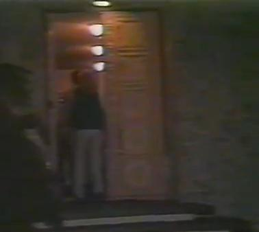 Ed's front door on Dona Lola Place in Studio City, 1980s.