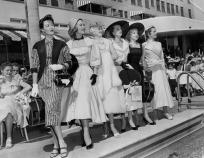 Fashion models in 1955.