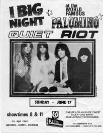 The original line up of Quiet Riot played something like 33 gigs, and 22 of them were at the Starwood.