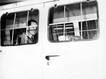 Manson heads back to prison, 1973.