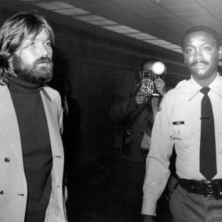 Terry Melcher arrives at court, 1971.