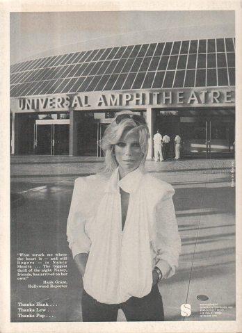 Nancy Sinatra (damn!), 1982.