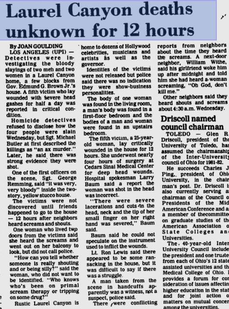 UPI Article. July 3, 1981.
